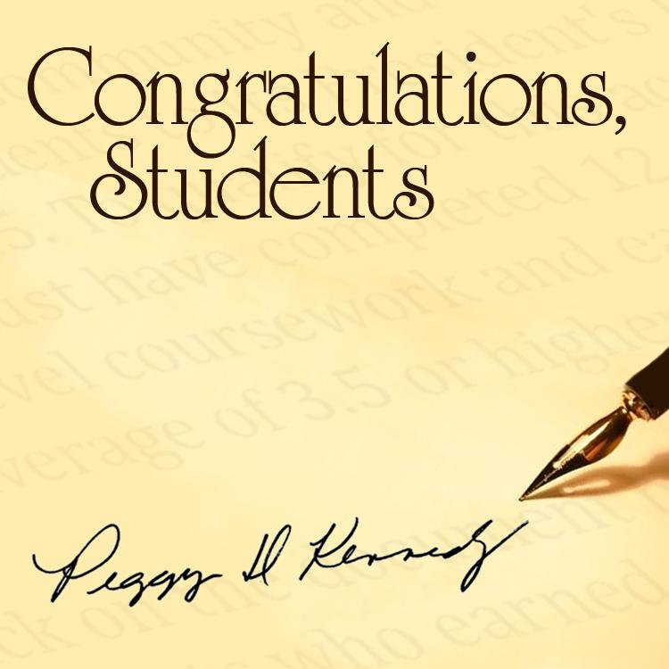 presidents list, congratulations students