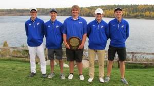 Left to right: Kyle Boe, Will Tickel, Chris Swenson, Mason Landborg, Nick Kress