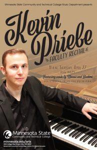 Dr. Kevin Priebe Recital @ Legacy Hall | Fergus Falls | Minnesota | United States