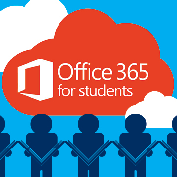 Student Outlook email and Office 365 applications.