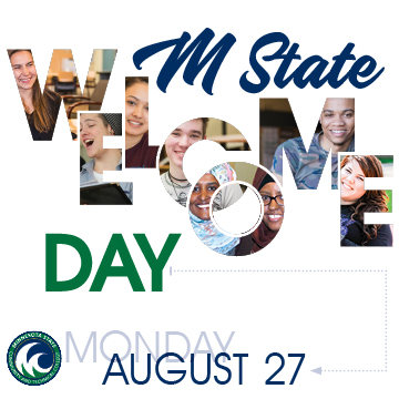 Join us for Welcome Day on August 27.