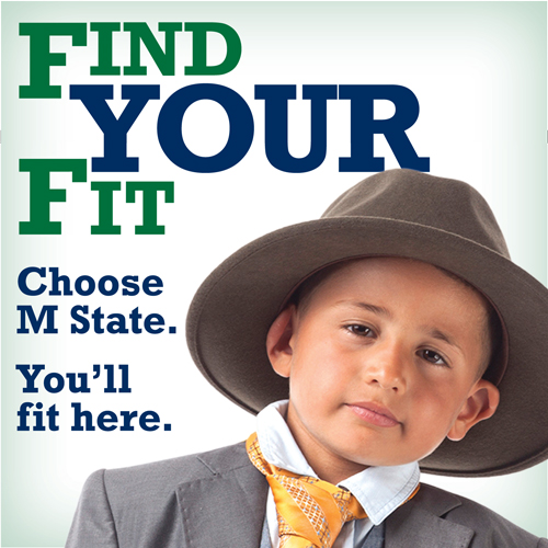 Choose M State. You'll fit here.