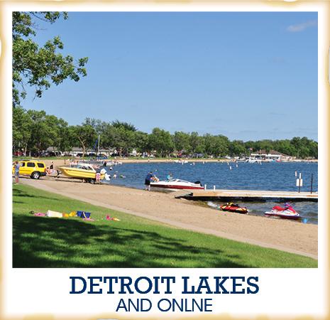 Detroit Lakes button M State