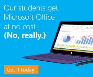 Our students get Microsoft Office at no cost. (No, really.)