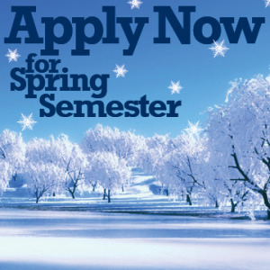 Apply Now for Spring Semester