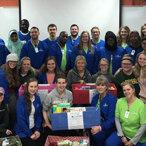 Nursing students collect donations